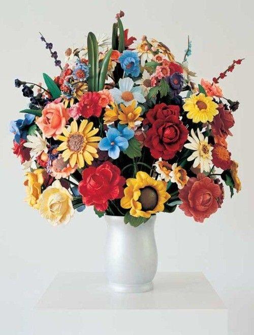 Jeff Koons, vase with flowers