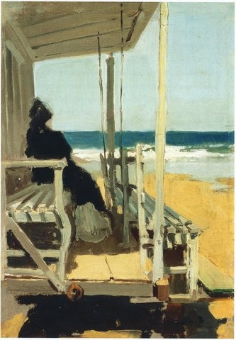 On San Sebastian beach, 1900, Joaquin Sorolla Y Bastida - so evocative