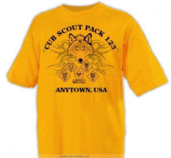 Pack Wolf Head With Embelishment Cub Scout Pack Design