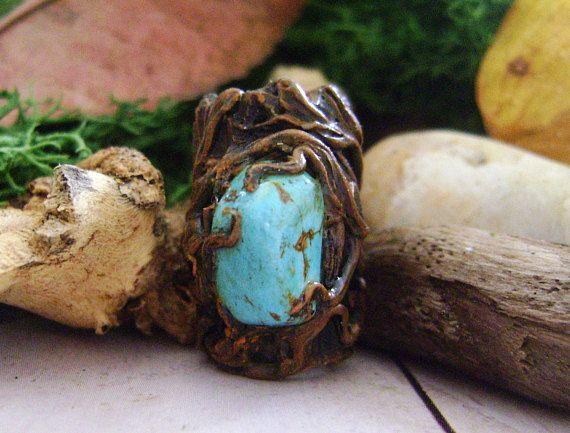Dreadlock turchese pietra preziosa, dread Accessori Perline dreadlock, dreadlock, polsino dreadlocks, dread fatti a mano, terrore della perla della perla