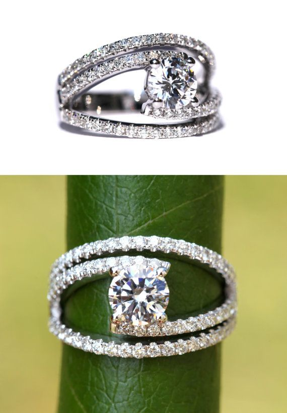 GALAXY Diamond Engagement Ring weddings by BeautifulPetra