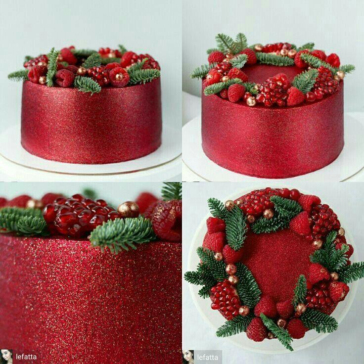 Roter prickelnder Kuchen   – Torten Ideen