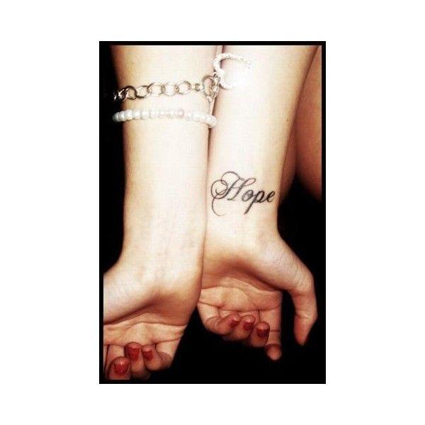 "Tatouage ""Hope"" ❤ liked on Polyvore"
