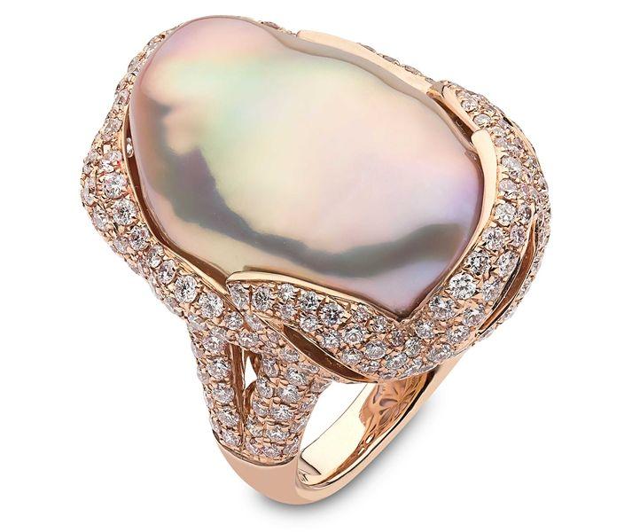 Resultado de imagen para baroque pearls rings
