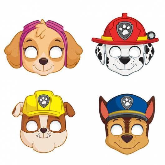 máscaras Patrulha Canina para imprimir