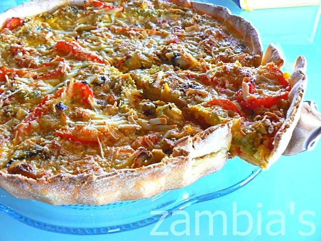 Tart with Mushrooms and Peppers  Τάρτα με μανιτάρια και πιπεριές