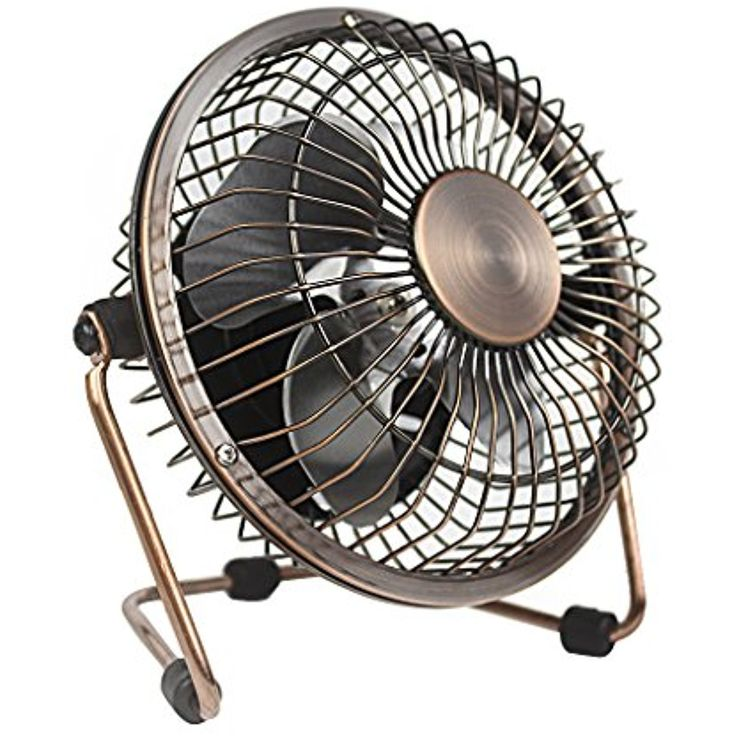 Small Desk Fan Quiet Usb Mini Retro Metal Personal Table With 3 9 Feet Cable Great For Office Room Desktop 4 Inches Bronze Visit The