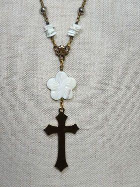 小鳥と十字架ネックレス[M283H28]
