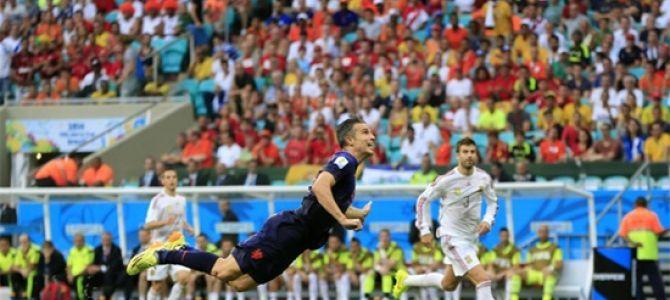 Van Persie went down in history thanks to a brace before Spain