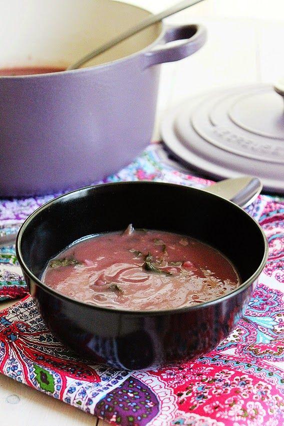 Cozinhadaduxa: Uma sopa  Pintada [ Alho-Francês , Batata-Doce Rox...