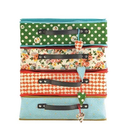 stack of french kids suitcases, so sweet
