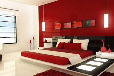 Rojo, blanco y negro. Una combinación de colores moderna y elegante para decorar tu habitación.