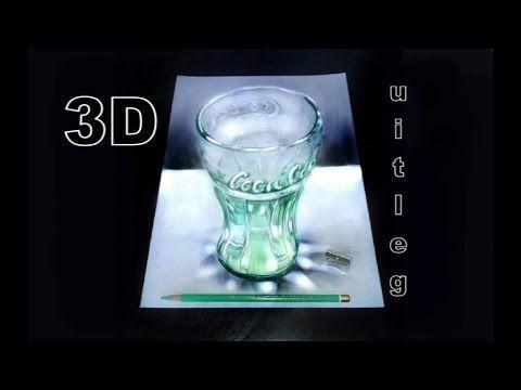 Hoe teken je 3D - Coca Cola glas - YouTube