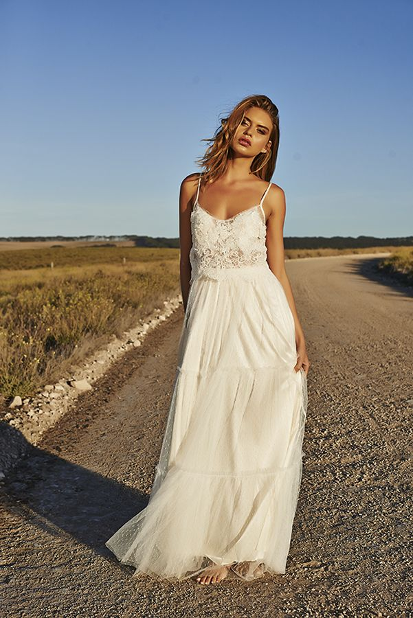 Simple Wedding Dress Free Spirited Bohemian The Claudia By Grace Loves Lace Clic And So Feminine Yet I Love It