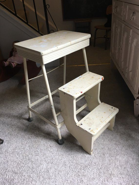 Vintage Fold Up Step Stool Step Stool Rustic Stools Stool