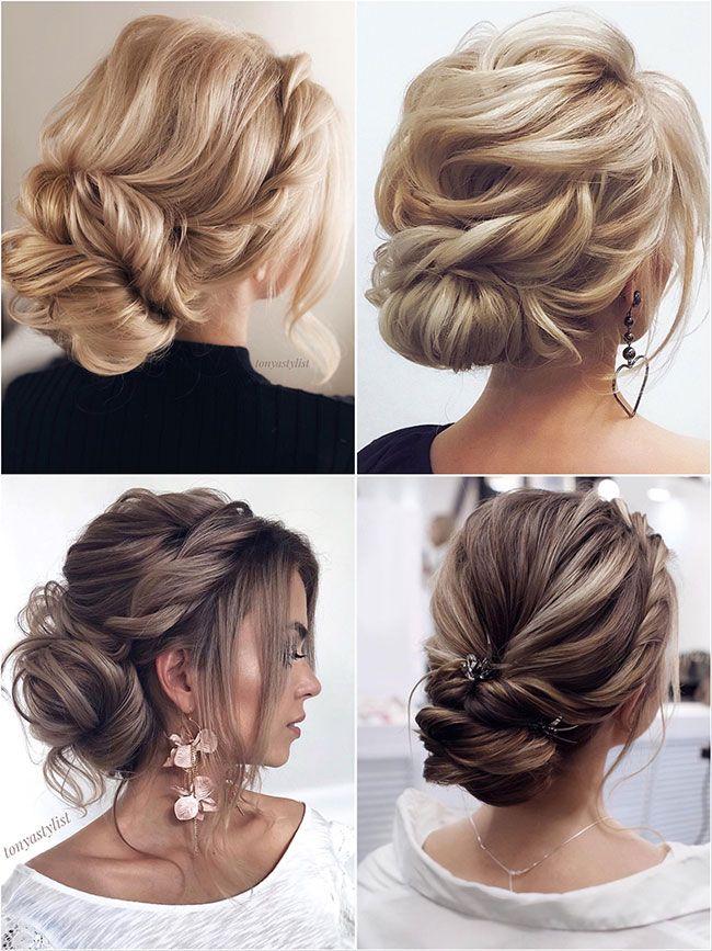 Romantische lose chaotisch geflochtene Hochsteckfrisur für dünne Haare Hochzeitsfrisuren #updo …   – BEST WEDDING IDEAS