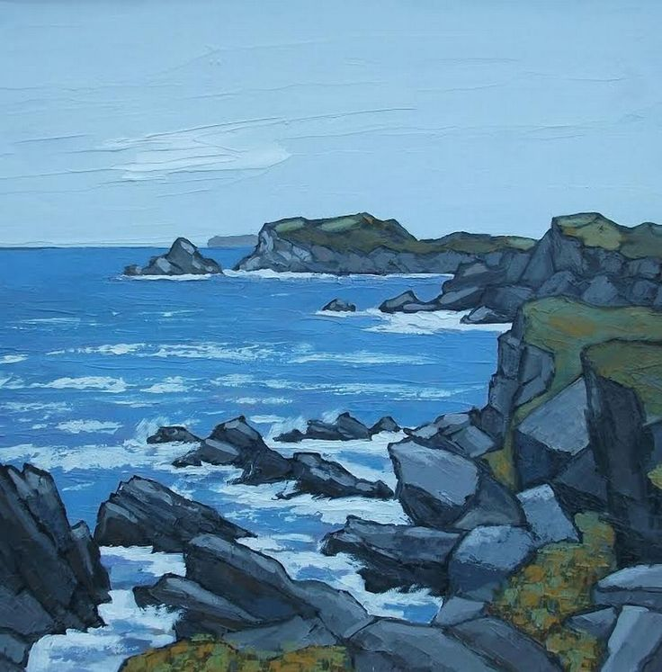 West Coast of Anglesey by David Barnes as part of his new exhibition at Albany Gallery
