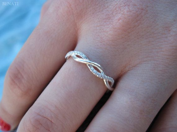 Diamond Infinity knot Ring Infinity Diamond Wedding by Benati