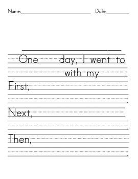 This is writing paper that you can use to help students who are just beginning to write a narrative paper. Sentence frames are provided so that students can trace selected words and then fill in the blank lines. Save big bucks when you Bundle!