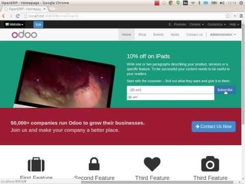 Odoo inbound marketing apps demo.