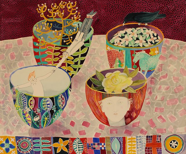four bowls - cate edwards