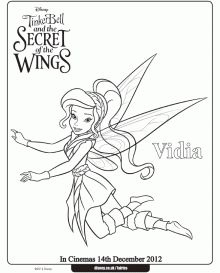 disney secret of the wings winter fairy free printables activities and coloring pages - Disney Fairy Vidia Coloring Pages