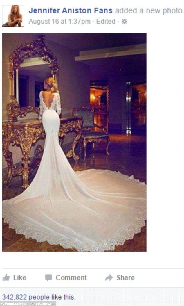 Jennifer aniston wedding dress 2018
