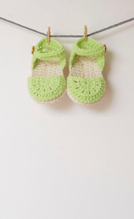 106 besten sandalias bebe a crochet Bilder auf Pinterest ...