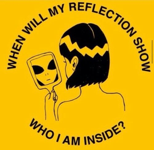 Yellow aesthetic tumblr when will my reflection show who i am inside?