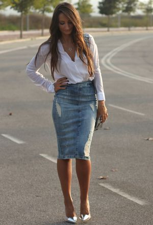 Look by @badman with #leather #casual #zara #skirt #faldas #falda #office #camisa #shirt #jeans #denim #heels #midi #camisas #spring #skirts #jean #cena #chic #streetstyle #tacones #white #vaquero #blue #pencil #shirts #pvc #street #camicia #fashion #mezclilla #vaquera #long #gonne #love #maria #class #tubo #outfits #gray #look #baby #looks #whiteshirts #grayheels #darkgrayheels.