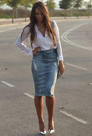 Look by @badman with #leather #casual #zara #skirt #faldas #falda #office #camisa #shirt #jeans #denim #heels #midi #camisas #spring #skirts #jean #cena #chic #streetstyle #tacones #white #vaquero #blue #pencil #shirts #pvc #street #camicia #fashion #mezclilla #vaquera #long #gonne #love #maria #class #tubo #outfits #gray #look #baby #looks #whiteshirts #grayheels #darkgrayheels.