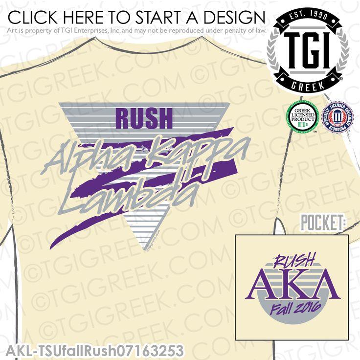 TGI Greek - Alpha Kappa Lambda - Recruitment - Greek Apparel #tgigreek #alphakappalambda