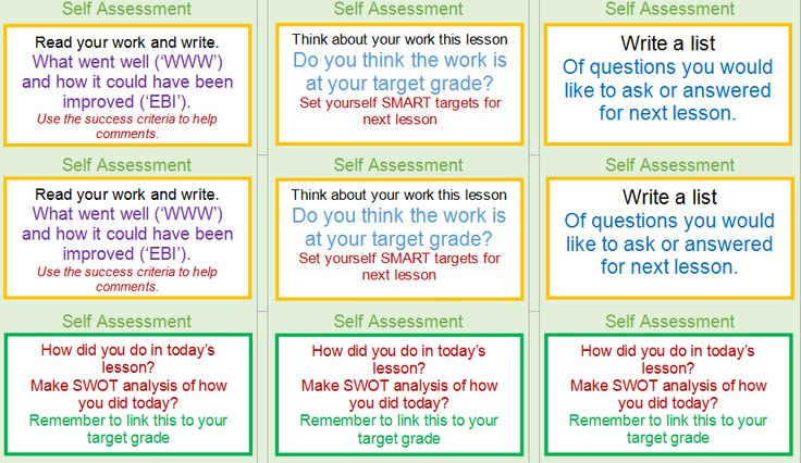 Self Assessment stickers can be used for students in all subjects to self asses their work. Simply print on stickers and stick in students books. Resource has been differentiated for red, amber and green.