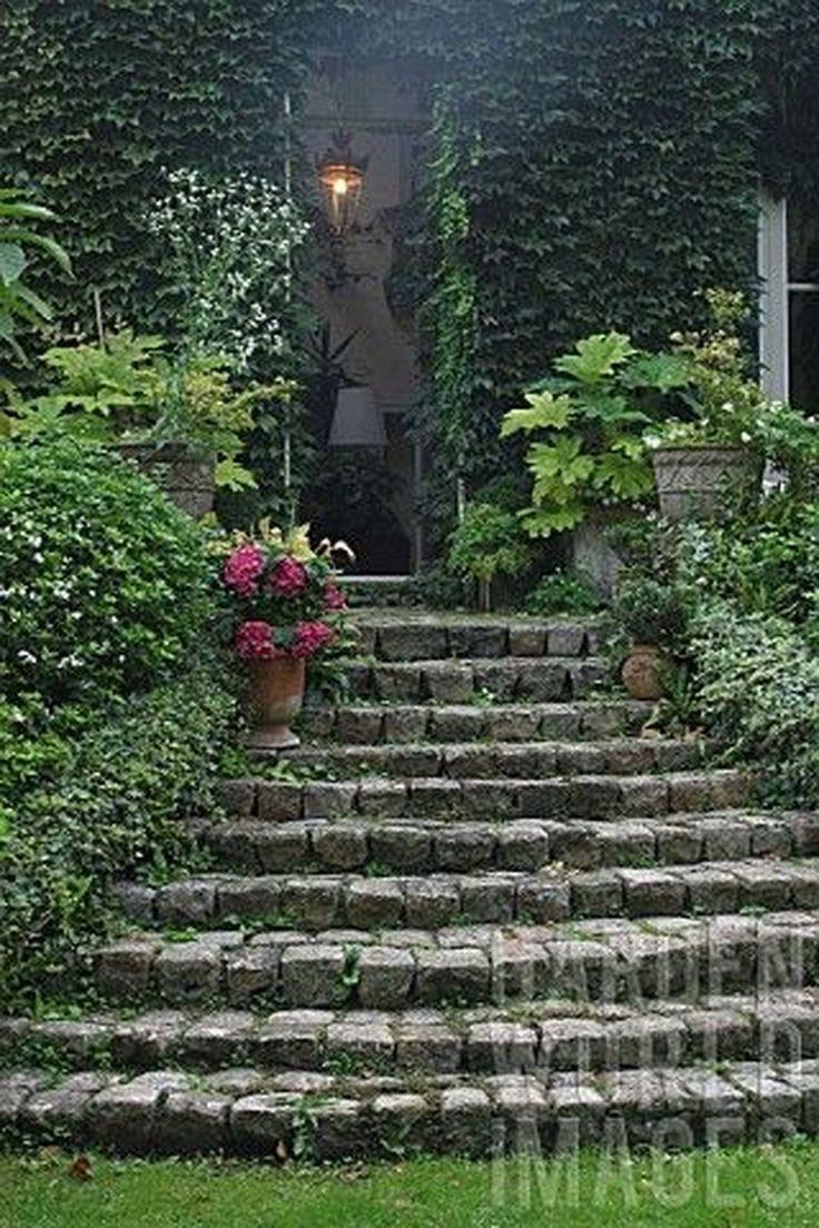 46 idées de bricolage pour faire des escaliers et des marches de jardin