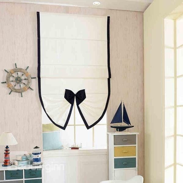 Designer Cute Mediterranean Style Bow Fan-Shaped #Roman #Shades