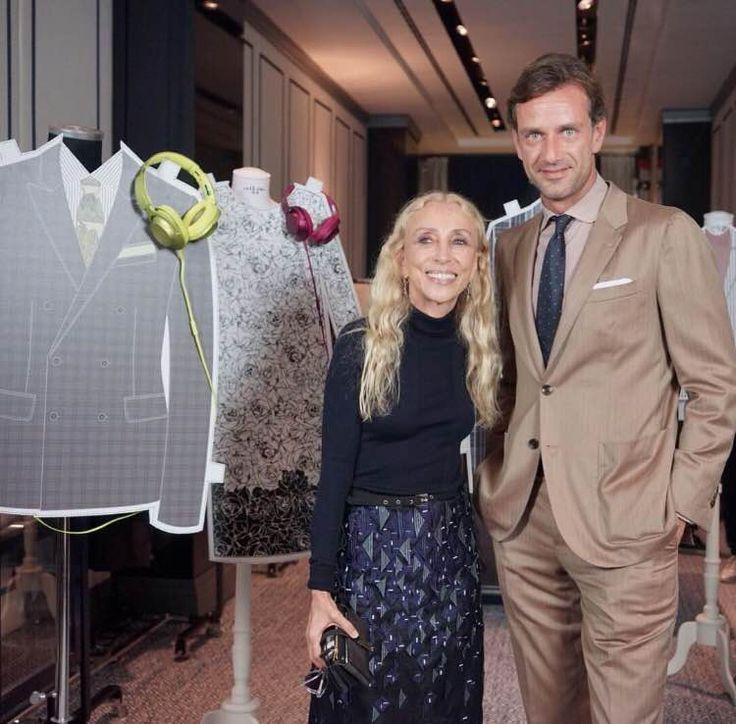 Guglielmo Miani and Franca Sozzani at Larusmiani Concept Boutique during Vogue Fashion's Night Out 2015