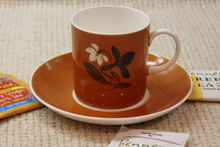 Wedgwood, Bone China, Cup and Saucer, Suzie Cooper Designs, Floral Motif. $18.50, via Etsy.
