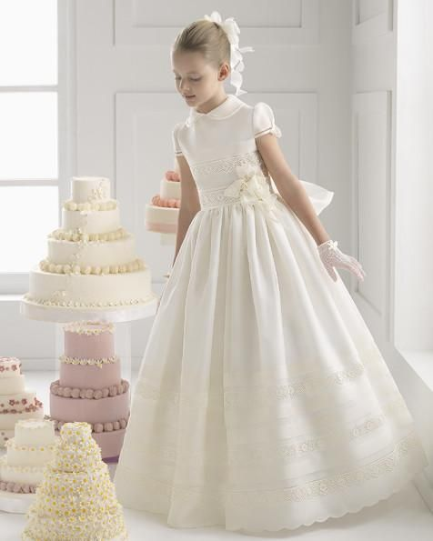 The casual dresses for girls which match the flowers- 2015 Beautiful Lovely Flower Girls' Dresses A-Line Satin Lace High Collar Sash Flowers Ruffle Short Sleeve Ankle-Length Wedding Birthday Day is offered in chenxiang222 and on DHgate.com chiffon flower girl dresses along with modest flower girl dresses are on sale, too.