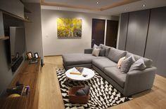 Busca imágenes de diseños de Salas multimedia estilo moderno}: Departamento DG. Encuentra las mejores fotos para inspirarte y y crear el hogar de tus sueños.