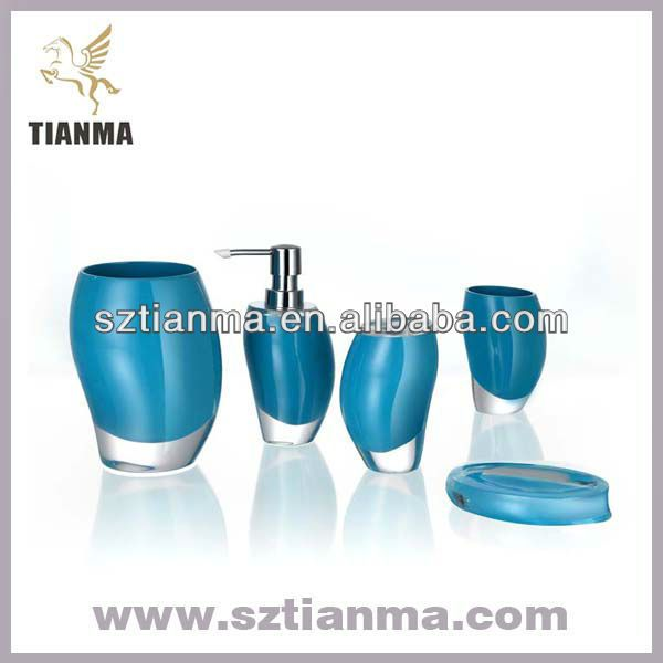 Turquoise Bathroom Accessories | Resin Turquoise Bathroom Accessories Sets  Factory