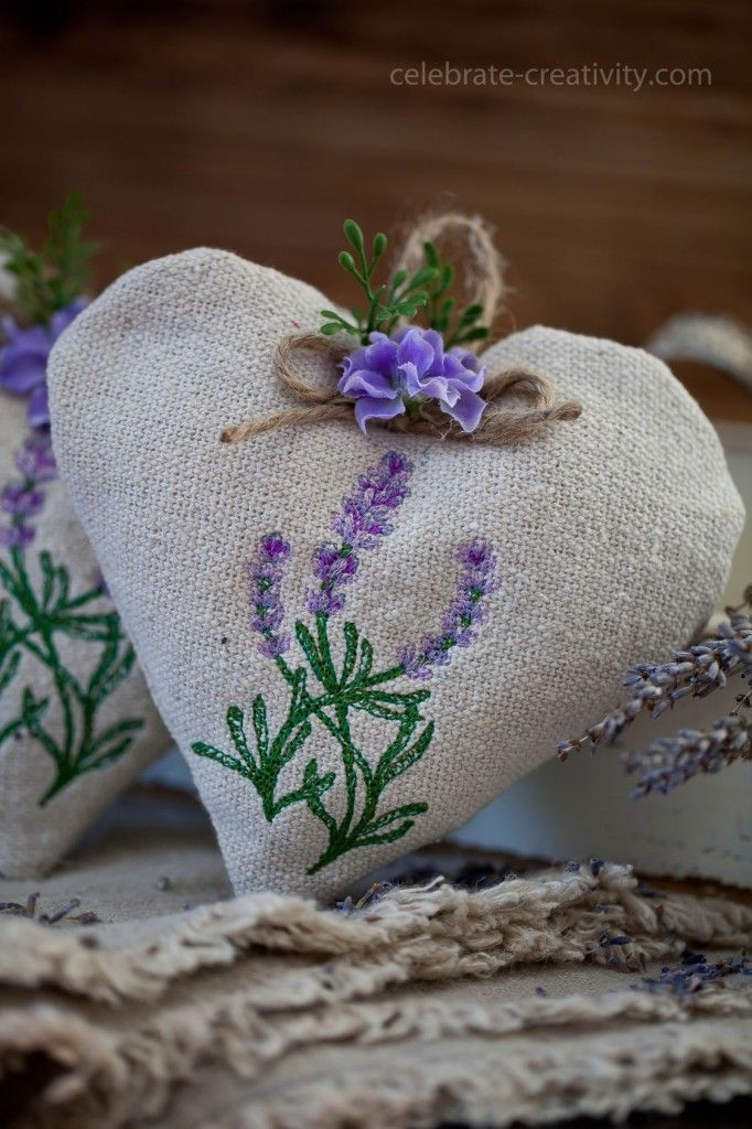 Sweet Lavender Heart Sachet DIY featured on Ella Claire