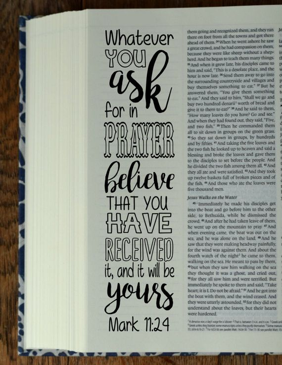 "MARK - 4 Bible journaling printable templates, instant download illustrated christian faith bookmarks, black and white prayer journal bible verse traceable stencils, bible stickers. ♥ Mark 5:36 ""Do not be afraid, only believe."" ♥ Mark 9:23 ""Everything is possible for one who believes."" ♥ Mark 10:9 Therefore what God has joined together, let no one separate."" ♥ Mark 11:24 Therefore whatever you ask for in prayer, believe that you have received it, and it will be yours. This set is included…"