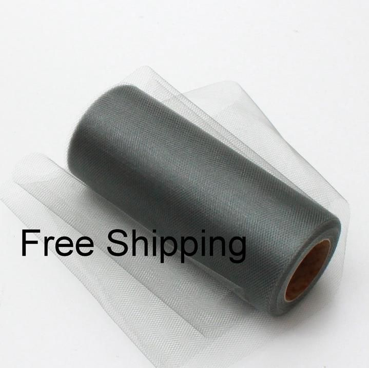 Silver Shimmer Tulle Roll - 25 Yard X 6 In - Shimmer Tulle Roll - 25 Yard Tulle Roll