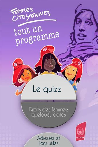 Femmes citoyennes : Le 8 mars 2014 , la Ville de Villejuif célèbre la Journée internationale de lutte pour les droits des femmes, placée cette année sous le signe du 70ème anniversaire du droit de vote féminin en France (1944-2014). A cette occasion, Villejuif vous propose de tester vos connaissances sur l'histoire du combat des femmes pour l'égalité et la citoyenneté dans un grand quizz.Répondez à toutes les questions sur le droit des femmes en vous amusant. Apprenez par exemple...