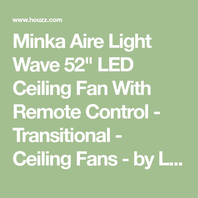 """Minka Aire Light Wave 52"""" LED Ceiling Fan With Remote Control - Transitional - Ceiling Fans - by Light Brothers"""