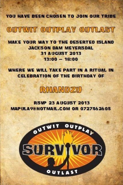 Survivor Party Postcard Invitation