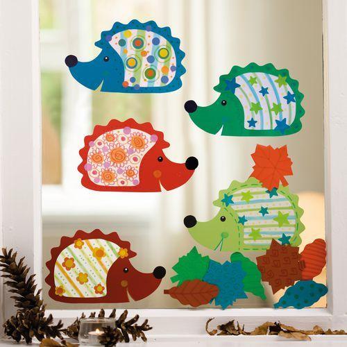 Sachenmacher Kinder-Fensterbilder Igel, 15-teiliges Herbstset - Fensterigel schnell beklebt ♥ sorgfältig ausgewählt ♥ Jetzt online bestellen!
