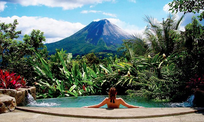The Springs at Arenal Costa Rica.  Rejuvenating hot springs, Volcano view from your room, beautiful facilities and spa