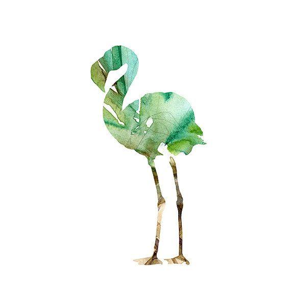 Flamingo illustraties  giclee prints  door Lemonillustrations