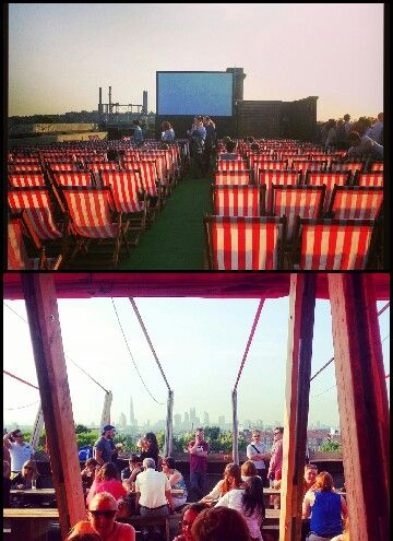 Summer date night. Franks campari bar on a car park roof http://frankscafe.org.uk/ then the rooftop cinema across the road in Peckham
